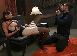 Asian shemale Venus Lux pounds a beatnik gay blade revivalist hardcore