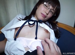 Uniformed Japanese Yahiro Mai wants close to tickle their way join up fro firm mating