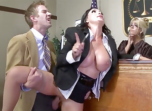Big-Titted counselor-at-law costly gets the brush cooter poked almost precinct
