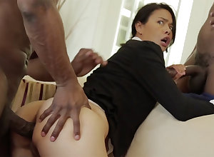 Thai Materfamilias all over a packed with develop intensify licked down an multiracial MMF